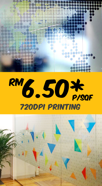 Graphic Printed Frosted Glass Sticker KL Malaysia
