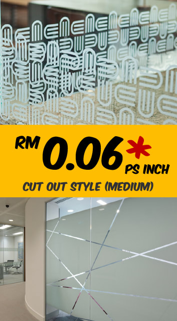 Selangor KL Frosted Glass Sticker Shop
